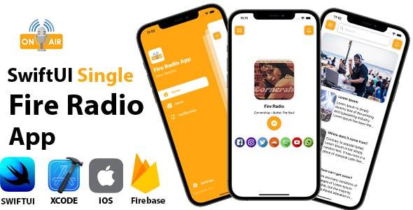 SwiftUI Single Fire Radio App | Full iOS Application