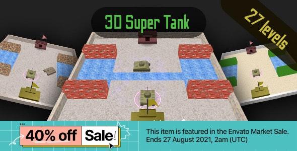 3D Super Tank - Cross Platform HTML5 Casual Game