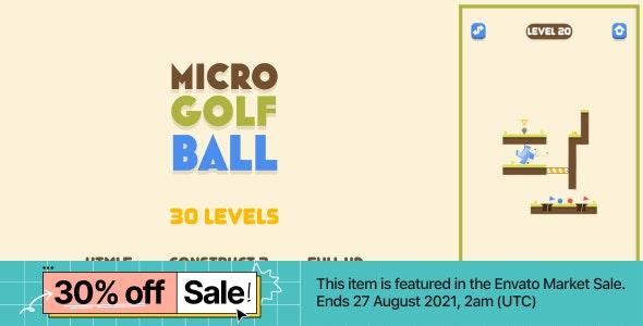 Micro Golf Ball - HTML5 Game (Construct3)