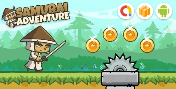 Samurai Adventure Run Game (Buildbox Template + Android Studio Project)