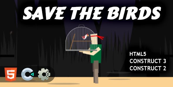 Save The Birds HTML5 Construct 2/3 Game