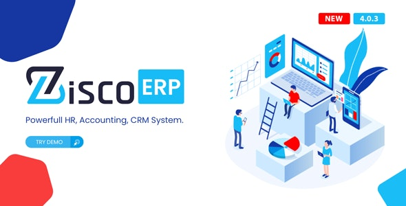ZiscoERP - Powerful HR, Accounting, CRM System - CodeCanyon Item for Sale