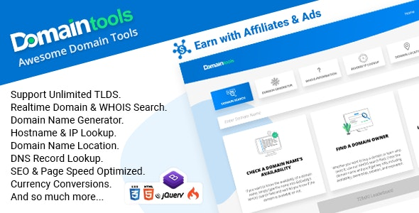 DomainTools - Awesome Domain Tools - CodeCanyon Item for Sale