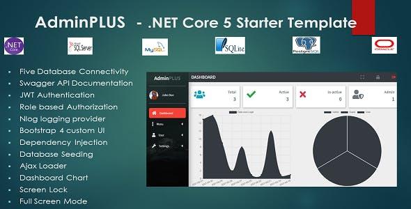 AdminPLUS - .NET Core 5 Starter Admin Template