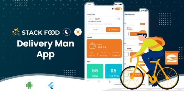 StackFood Multi Restaurant - Food Ordering Delivery Man App V2.0