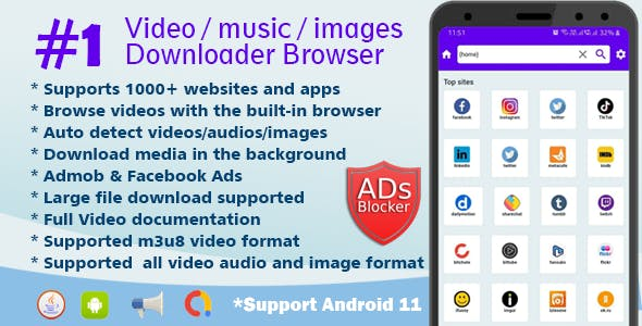 Lion Browser - Downloader Video audio images - All in one video downloader browser
