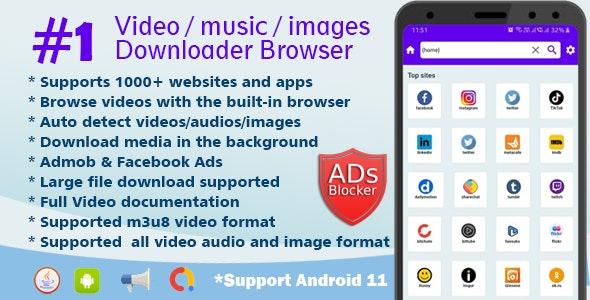 Lion Browser - Downloader Video audio images - All in one video downloader browser - CodeCanyon Item for Sale