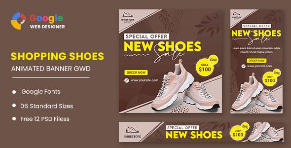 Shoes Products HTML5 Banner Ads GWD