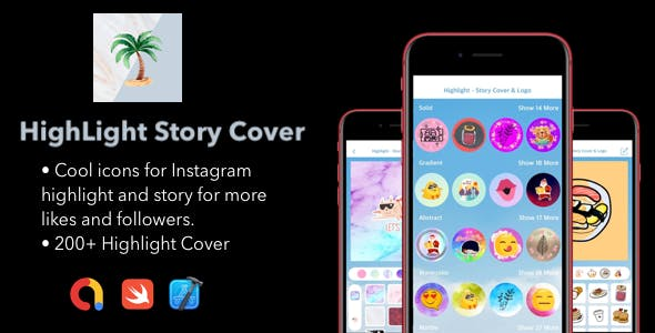 Highlight Story Cover For Instagram |. ADMOB Support | Swift CODE
