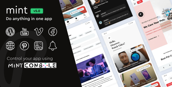 Mint v4.2.0 – WebView & Multi-purpose Android App With Remote Config