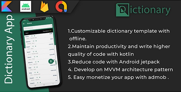Custom offline   online Dictionary - CodeCanyon Item for Sale