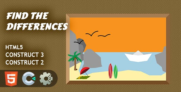 Find The Differences HTML5 Construct 2/3 Game