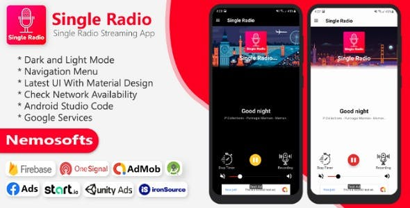 Android Radio - Single Radio Streaming App
