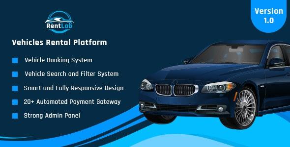 RentLab - Vehicles Rental Platform - CodeCanyon Item for Sale