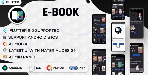 Flutter EBook App (Online eBook Reading, Download eBooks,Books App) (V3.0)