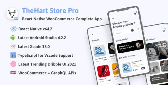 TheHart Store Pro WooCommerce | React Native Ecommerce Complete App