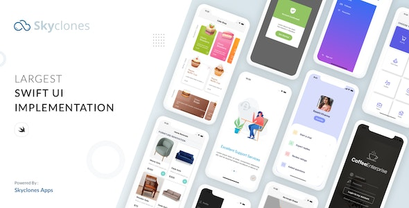 SkyControls SwiftUI Design UI kit - CodeCanyon Item for Sale