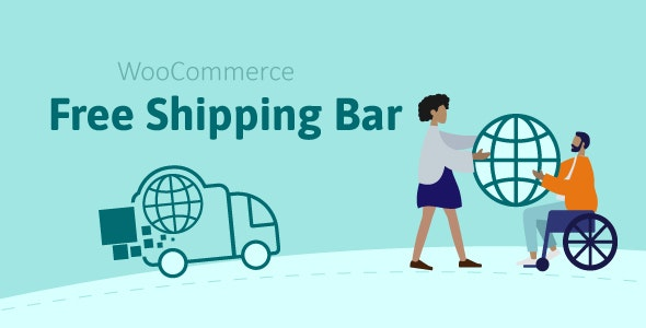 WooCommerce Free Shipping Bar v1.1.6.4 – Increase Average Order Value