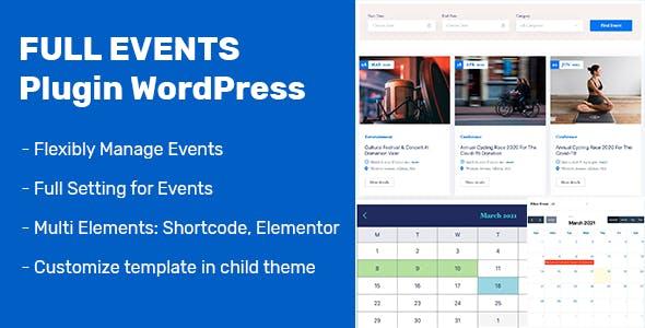 FullEvents - Event Plugin WordPress