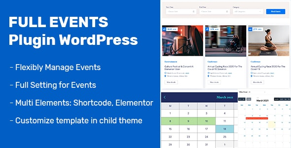 FullEvents - Event Plugin WordPress - CodeCanyon Item for Sale