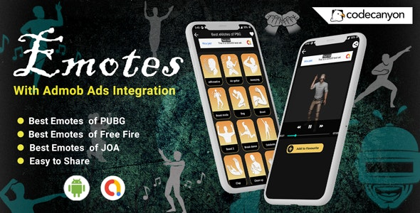 Android FFiMotes - emotes and dances (Pubg, Free Fire, JOA)(Android 11 Supported) - CodeCanyon Item for Sale