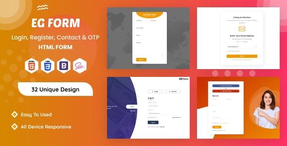 EG Form -  Pro HTML5 Form - CodeCanyon Item for Sale