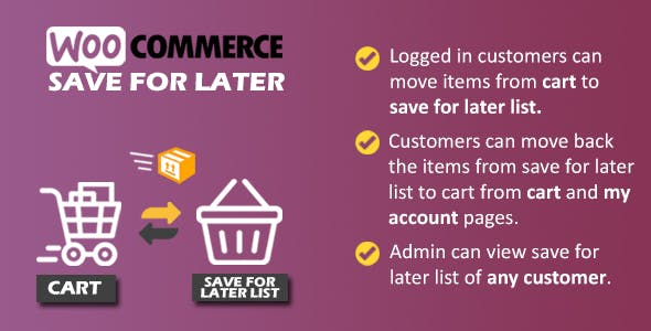 WooCommerce Save for Later