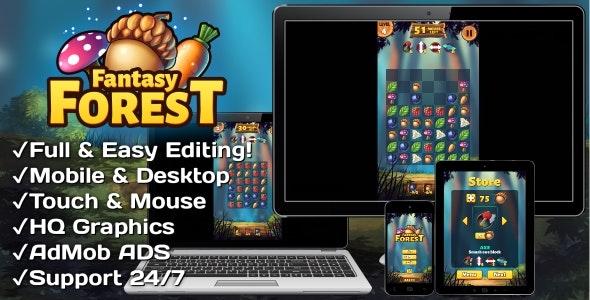 Fantasy Forest v1.0 – HTML5 + Mobile Game (Construct 3)