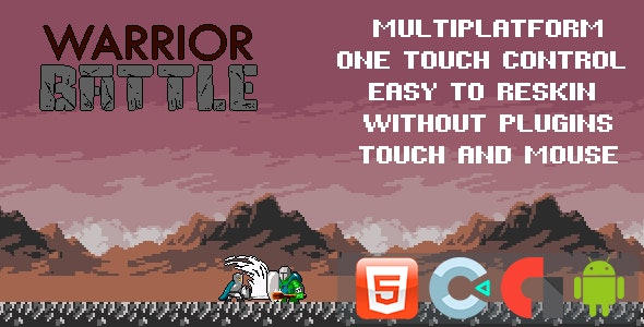 Warrior Battle - Template for Construct 3 - CodeCanyon Item for Sale