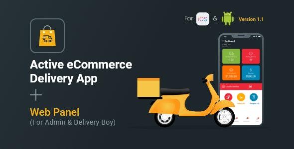 Active eCommerce Delivery Boy Flutter App v1.1