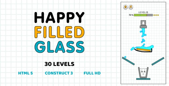 Happy Filled Glass - HTML5 Game (Construct3)