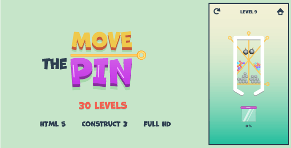 Move The Pin - HTML5 Game (Construct3) - CodeCanyon Item for Sale