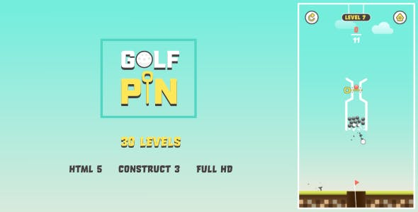 Golf Pin - HTML5 Game (Construct3)