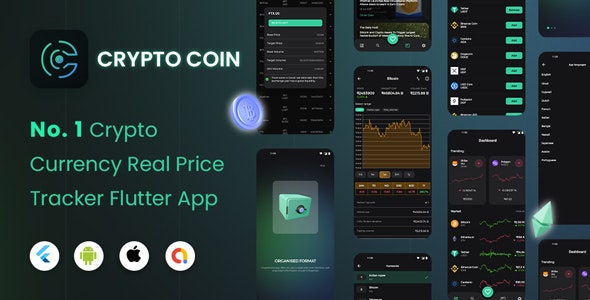 CryptoCoin: Flutter Full Cryptocurrency app for live tracking of prices - CodeCanyon Item for Sale