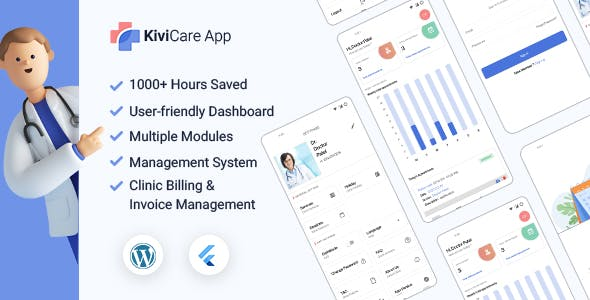 KiviCare Flutter 2.0 App - Clinic & Patient Management System