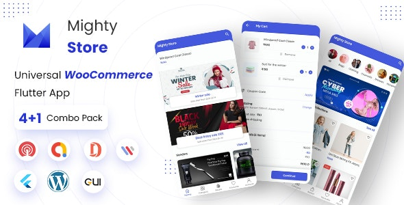 MightyStore E-commerce Flutter Full App: Single + Dokan Multi Vendor + WCMp + Admin App - CodeCanyon Item for Sale