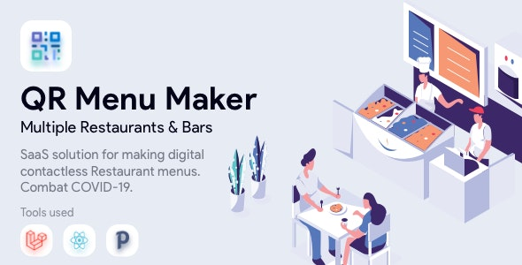 QR Menu Maker - SaaS - Contactless qr restaurant menus - CodeCanyon Item for Sale