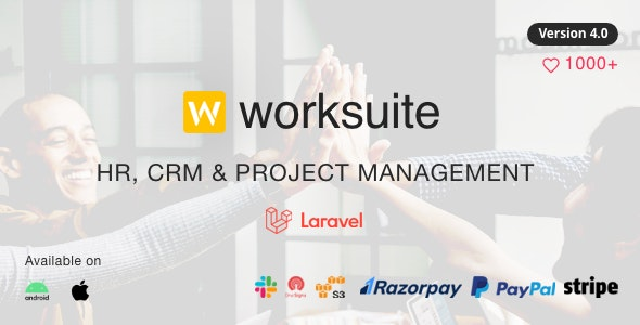 WORKSUITE - HR, CRM and Project Management - CodeCanyon Item for Sale