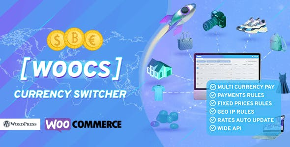 WOOCS - WooCommerce Currency Switcher. Professional multi currency plugin. Pay in selected currency