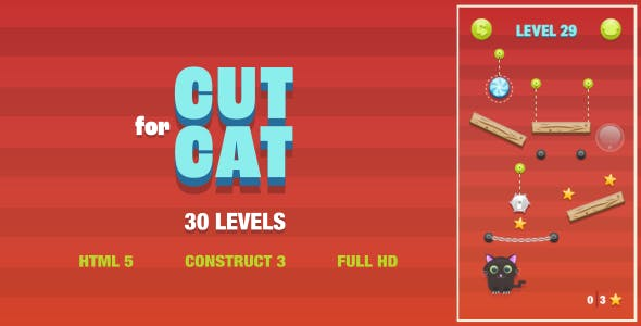 Cut For Cat - HTML5 Game (Construct3)