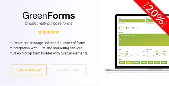 Green Forms v1.39 – Standalone Form Builder