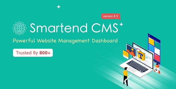 SmartEnd CMS - Laravel Admin Dashboard with Frontend and Restful API - CodeCanyon Item for Sale
