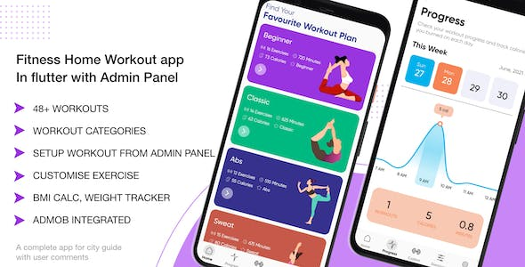 Fitness Home Workout App In Flutter With Admin Panel