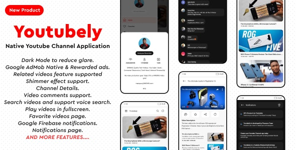 Youtubely - Native Youtube Channel Android App - CodeCanyon Item for Sale