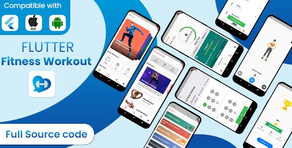 Flutter fitness Workout full source code with admob ready to publish - CodeCanyon Item for Sale