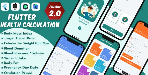 Flutter Health Calculation with Admob ready to publish - CodeCanyon Item for Sale