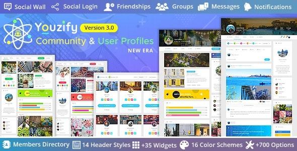 Youzify (formerly Youzer) v3.2.0 – BuddyPress Community & WordPress User Profile Plugin