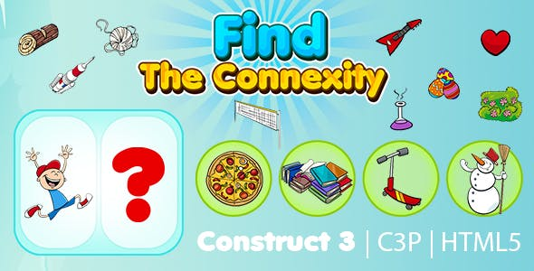 Find The Connexity Kids Learning Game (Construct 3 | C3P | HTML5) Educational Game