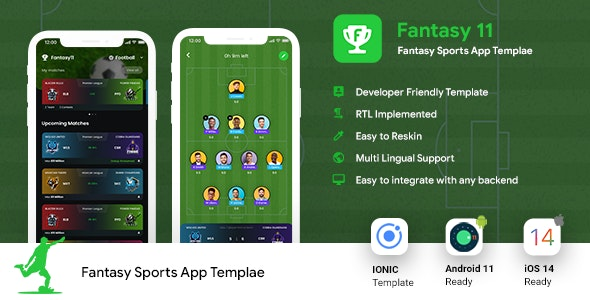 Fantasy League Contest Sports Android App Template+ iOS App Template   IONIC5   Fantasy 11 - CodeCanyon Item for Sale