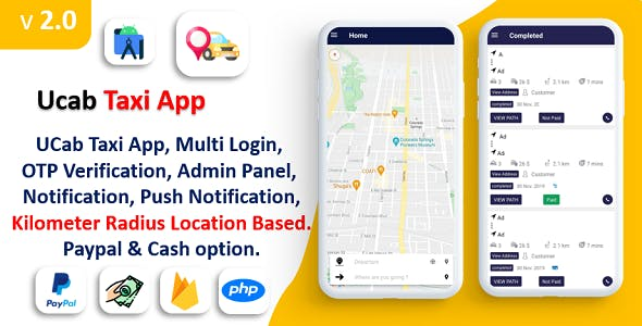 UCab Taxi App   On Demand Taxi App   Taxi App Payment Gateway   Login with Phone Number   KM Radius